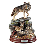 Sculpture - Autumn Tranquility Wolf Pack Sculpture