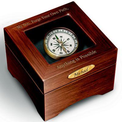 Bradford Exchange Keepsake Box Son, Forge Your Path Personalized Keepsake Box