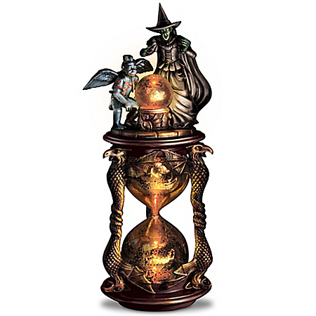 Wizard of Oz I'll Get You My Pretty Illuminating Hourglass Sculpture