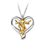 Necklace - Our Father Diamond Heart Pendant Necklace