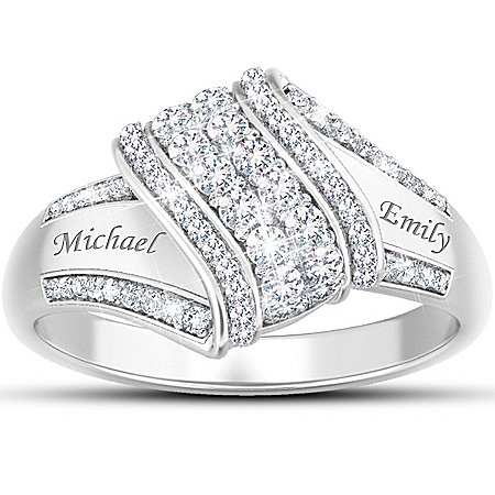 Women's Ring: Reflections Of Love Personalized Diamond Ring