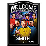 STAR TREK Personalized Welcome Sign