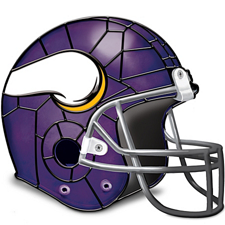 Lamp: Minnesota Vikings Helmet Accent Lamp by The Bradford Exchange Online - Lovely Exchange