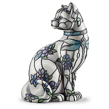 Lamp: Cat Louis Comfort Tiffany-Style SophistiCat Accent Lamp