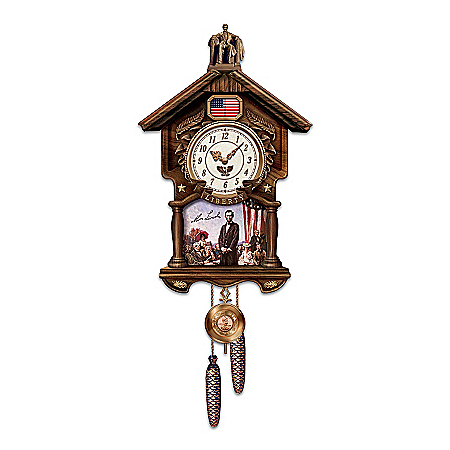 Abraham Lincoln: Timeless Valor Cuckoo Clock