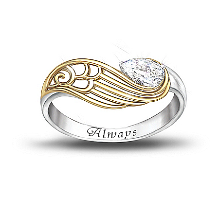 Women's Ring: Always With You Ring by The Bradford Exchange Online - Lovely Exchange