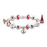 MLB St. Louis Charm Bracelet - Go Cardinals! #1 Fan