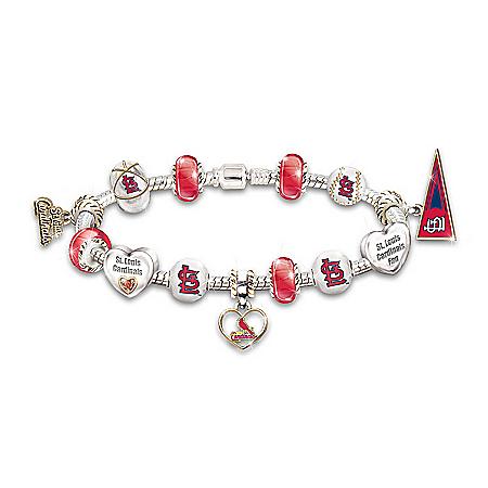MLB St. Louis Charm Bracelet: Go Cardinals! #1 Fan