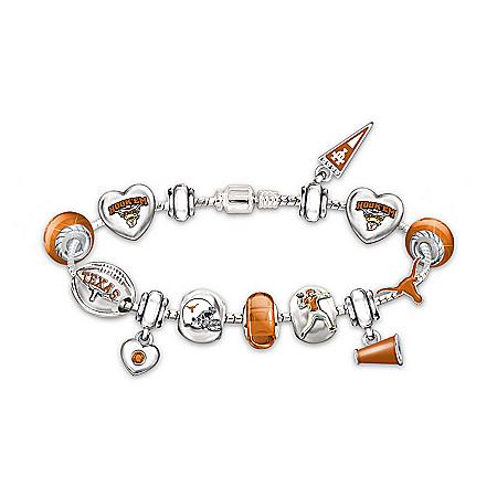 Women's Bracelet: Let's Go Texas Longhorns! #1 Fan Charm Bracelet