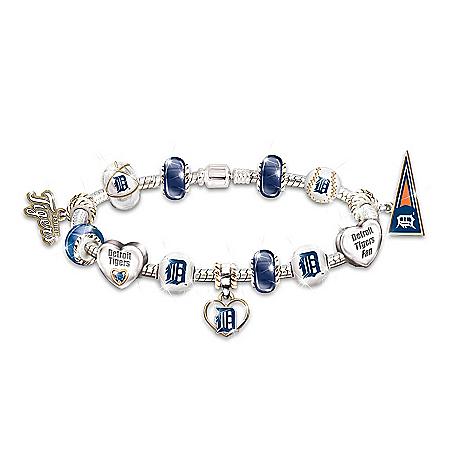 Go Detroit Tigers! #1 Fan Charm Bracelet