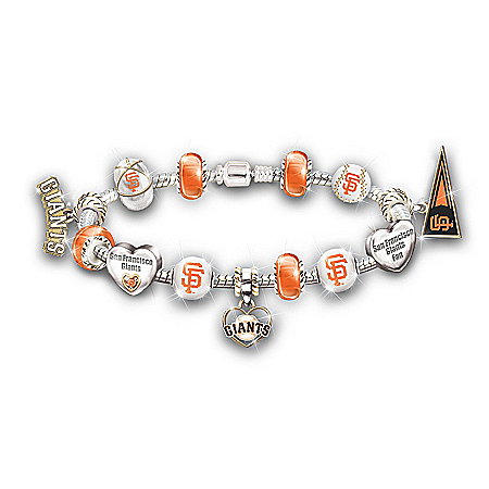 Photo of MLB San Francisco Giants 2012 World Series Beaded Bracelet by The Bradford Exchange Online