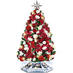Tabletop Tree - Thomas Kinkade Home For The Holidays Tabletop Tree