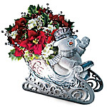 Thomas Kinkade Delivering Holiday Cheer Crystal Sleigh Table Centerpiece
