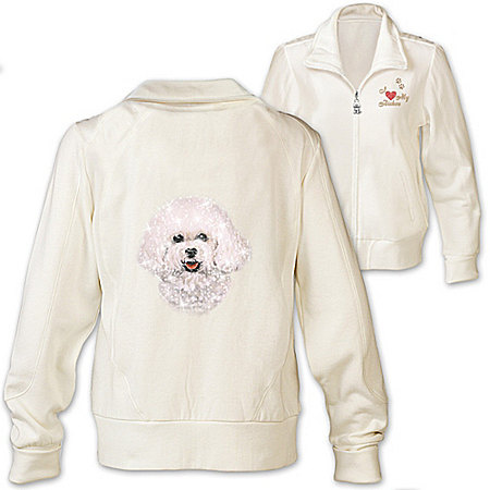 Women's Jacket: Doggone Cute Bichon Women's Jacket