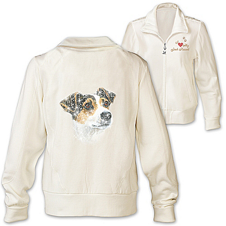 Women's Jacket: Doggone Cute Jack Russell Women's Jacket