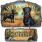Wall Decor - Lovable Labradors Personalized Welcome Sign Wall Decor