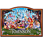 Welcome Sign - Magic Of Disney Personalized Welcome Sign