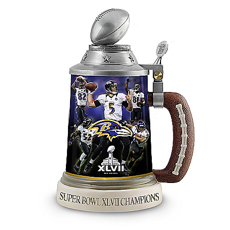 Super Bowl XLVII Champions Stein: Baltimore Ravens 118107001