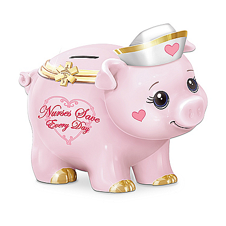 Gifts for Nurses Nurses Save Everyday Piggy Bank