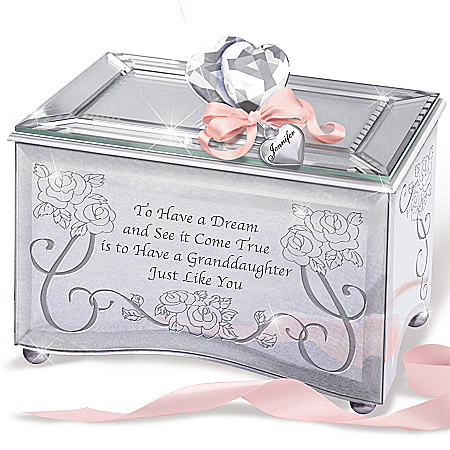 Recordable Personalized Keepsake Box: Granddaughter, You're A Dream Come True