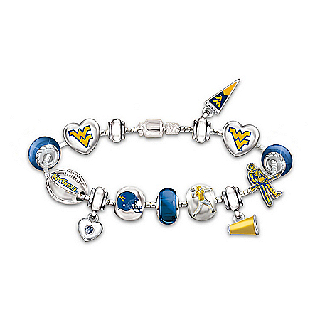 Women's Bracelet: Let's Go Mountaineers! #1 Fan Charm Bracelet