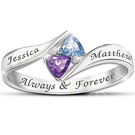 Photo of Women's Ring: Love's Promise Personalized Ring by The Bradford Exchange Online