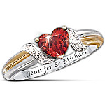 Women's Ring - Heart's Embrace Personalized Ring