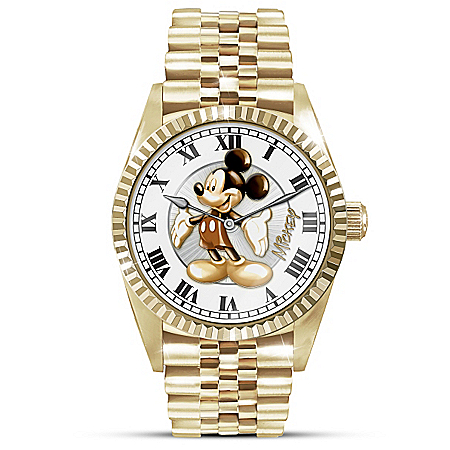 Disney Treasured Moments With Mickey Mouse Men's Watch With Presentation Case