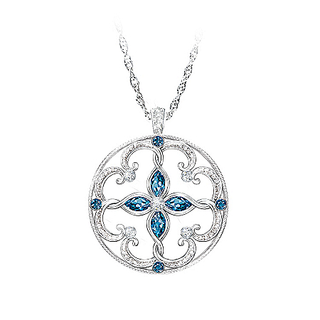 Topaz Pendant Necklace: Infinite Blessings Granddaughter Necklace