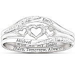 Women's Ring - With All My Heart Personalized Diamond Ring
