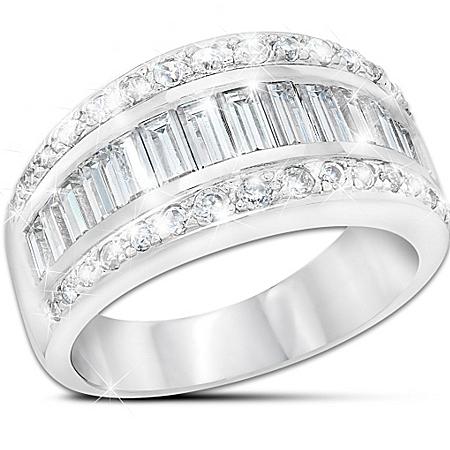 Ring: Sterling Silver Diamonesk Delight Ring