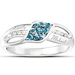 Women's Ring - Waves Of Love Personalized Diamond Ring