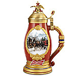 Budweiser Timeless Traditions Collectible Beer Stein Featuring Clydesdales And Beer Wagon