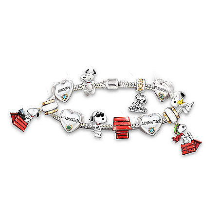 Women's Bracelet: The Adventures Of Snoopy Charm Bracelet