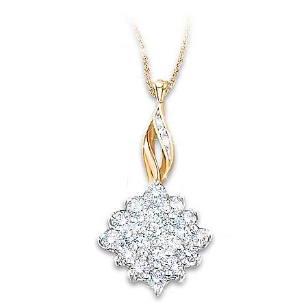 Diamond Delight Necklace With 1/2-Carat Diamond Cluster