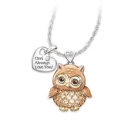 Women's Necklace: Granddaughter Owl Always Love You Pendant Necklace