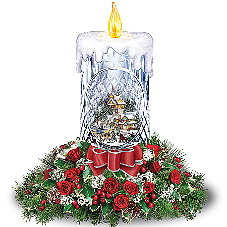 Floral Bouquet: Thomas Kinkade All Is Bright Table Centerpiece