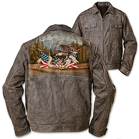 Men's Jacket: Land Of The Free Men's Jacket by The Bradford Exchange Online - Lovely Exchange