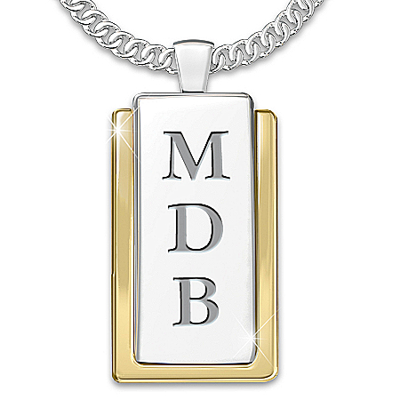 Necklace: My Father, My Hero Personalized Dog Tag Pendant Necklace by The Bradford Exchange Online - Lovely Exchange