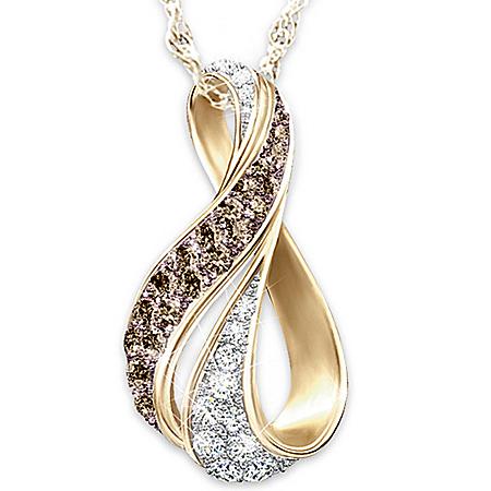 Sweet Decadence Mocha And White Diamond Pendant Necklace