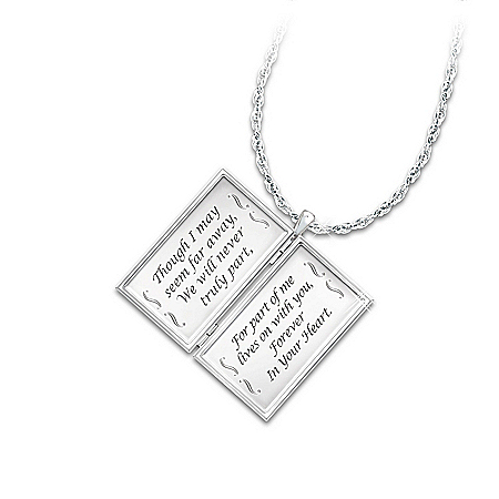 Necklace: Message From Heaven Diamond Envelope Pendant Necklace