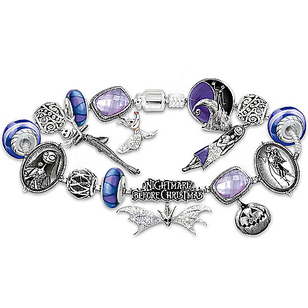 Bracelet: Tim Burton's The Nightmare Before Christmas Beaded Glass Charm Bracelet
