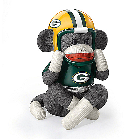 Music Box: Green Bay Packers Sock Monkey Music Box
