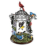Songbird Haven Gazebo Sculpture With 8 Lifelike Songbirds