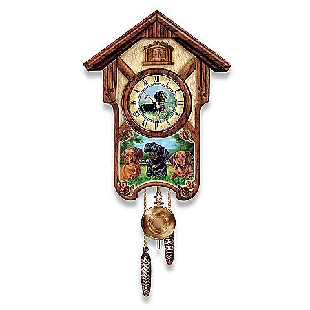 Cuckoo Clock: Delightful Dachshunds Cuckoo Clock