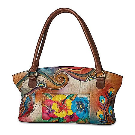 Roma Basu Garden Sunrise Designer Hand-Painted Handbag