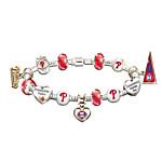 MLB Charm Bracelet - Go Phillies! #1 Fan