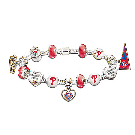 MLB Charm Bracelet: Go Phillies! #1 Fan