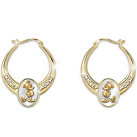 Earrings: Celebrate Mickey! Hoop Earrings