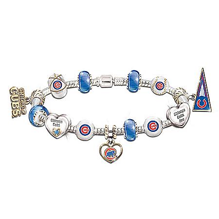 MLB Charm Bracelet: Go Cubs! #1 Fan